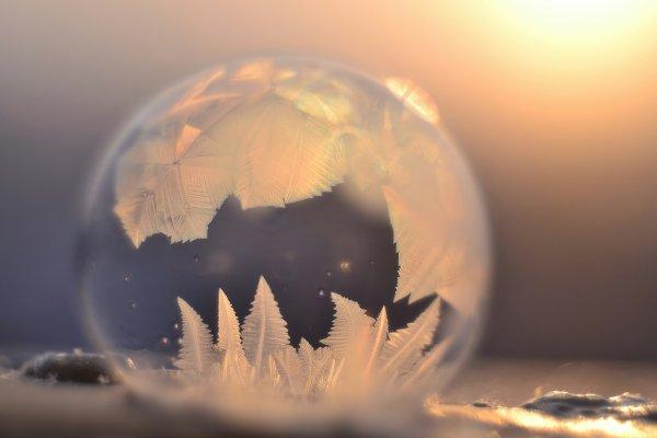 Макросъемка. Замораживаем мыльные пузыри.